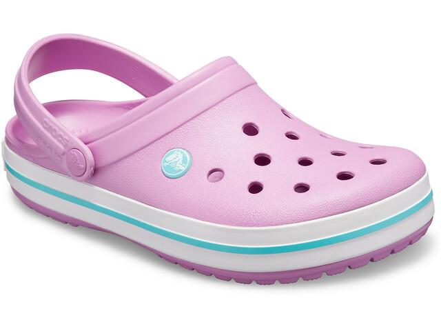 promo code 46d39 225b2 Crocs Crocband Clogs zoccoli, violet/white